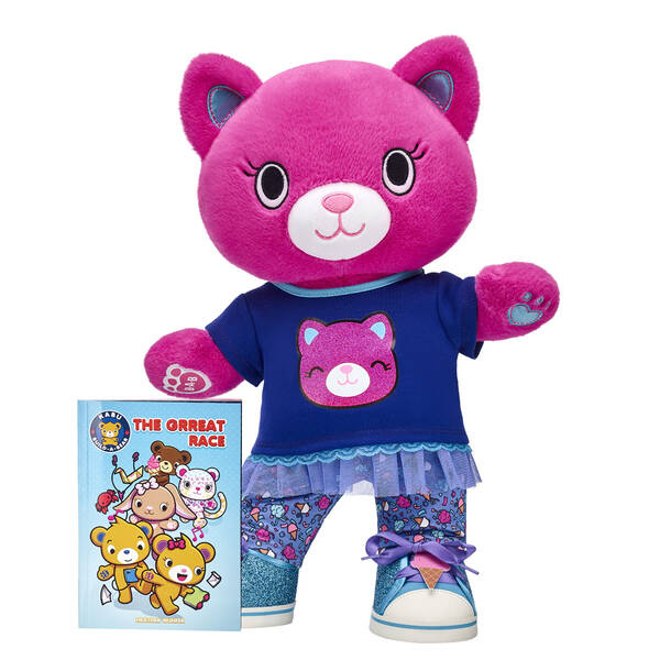 """""""The colourful Catlynn loves to stay active, so pair this adorable Kabu kitty with the all-new Kabu graphic novel so she can go on fun adventures throughout Pawston! This bright gift set includes Catlynn and the PAWsome story of """"""""The Grreat Race"""""""" in graphic novel form. <p>Price includes:</p>  <ul>    <li>Kabu™ Catlynn</li>     <li>Kabu™ Catlynn Skegging Set 2 pc. </li>    <li>Kabu™ Ice Cream Sneakers</li>    <li>Kabu™ """"""""The Grreat Race"""""""" Graphic Novel</li> </ul>"""""""