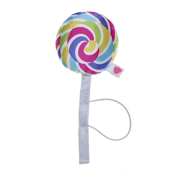 Candy makes everything sweeter! Put this plush candy lollipop accessory on your furry friend's paws to add some swirly sweetness to their look!