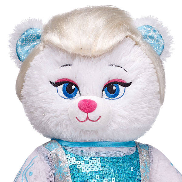 Style your furry friend's hair any way you like with this Disney's Frozen Elsa Wig! The teddy bear size wig transforms your furry friend's look, adding fun and flair to their outfit. Give any furry friend hair just like Elsa's platinum blonde look. Create a unique gift for your loved one with this teddy bear size Elsa Wig. © Disney