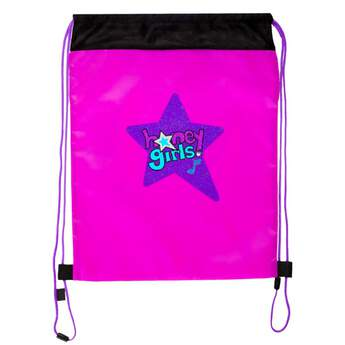 Style and functionality come together perfectly with this fun Honey Girls backpack! The purple bag has the Honey Girls logo on it with matching purple drawstrings. There are openings near the top of the bag for your Honey Girl's arms to fit through when you transport her. The drawstring bag is the perfect way to take your Honey Girl and all of her outfits and accessories with you wherever you go!
