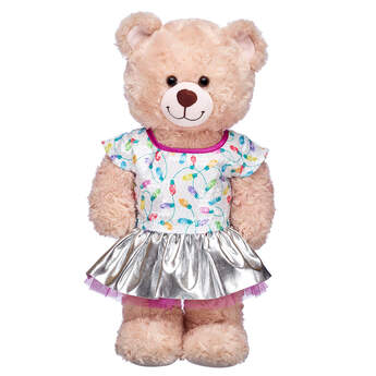 White Sequin Skirt Set 2 pc. - Build-A-Bear Workshop®