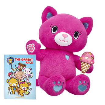"""Did someone say ice cream? Catlynn the active kitten is high-tailin' it to get a sweet treat! This Kabu stuffed animal gift set includes Catlynn, a Kabu ice cream cone squishy and a copy of the all-new Kabu graphic novel """"""""The Grreat Race."""""""" It's a complete gift set for any Kabu fan in your life!  <p>Price includes:</p>  <ul>    <li>Kabu™ Catlynn</li>     <li>Kabu™ Ice Cream Cone Squishy </li>     <li>Kabu™ """"""""The Grreat Race"""""""" Graphic Novel</li> </ul>"""
