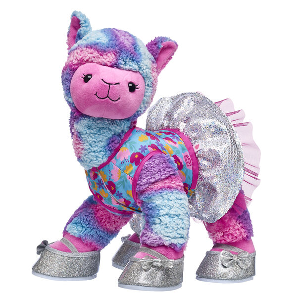 lama stuffed animal with sparkle tutu and shoes gift set