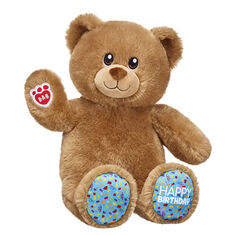 We LOVE birthdays – and when it comes to birthday fun, Birthday Treat Bear takes the cake! This cuddly brown teddy bear for birthday gifting has confetti on its paw pads! Outfit this furry friend online to make the perfect gift. Shop online or visit a store near you!