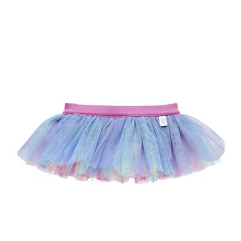 This pastel rainbow tutu for stuffed animals has colourful tulle layers. Outfit a furry friend online to make the perfect gift. Make your own your own stuffed animal online with our Bear Builder or visit a store near you.
