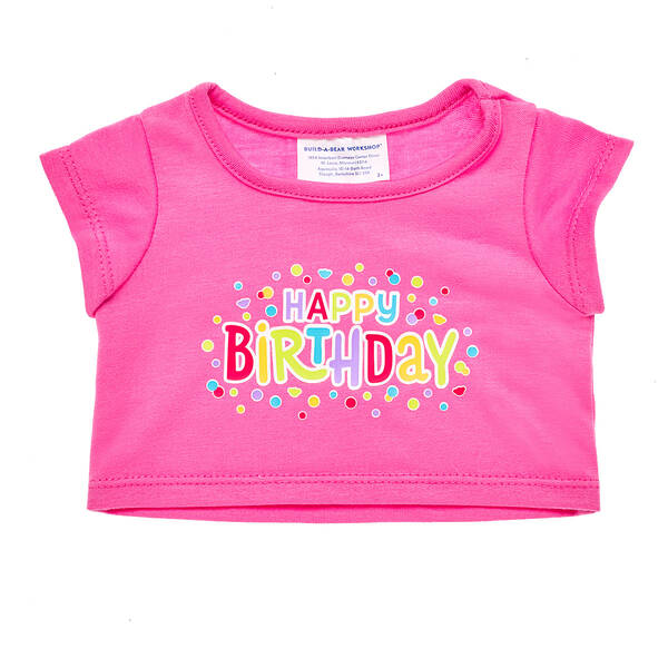 Pink Happy Birthday T-Shirt - Build-A-Bear Workshop®