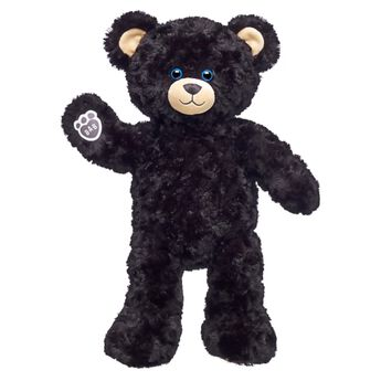 midnight moon black teddy bear standing
