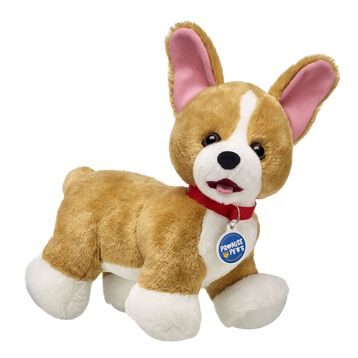 They may have short legs, but Corgis are spirited dogs who can play with surprising speed! These cheerful pups love nothing more than a romp outside followed by family cuddles at home. Personalize your stuffed Corgi with outfits and accessories to make the perfect unique gift!