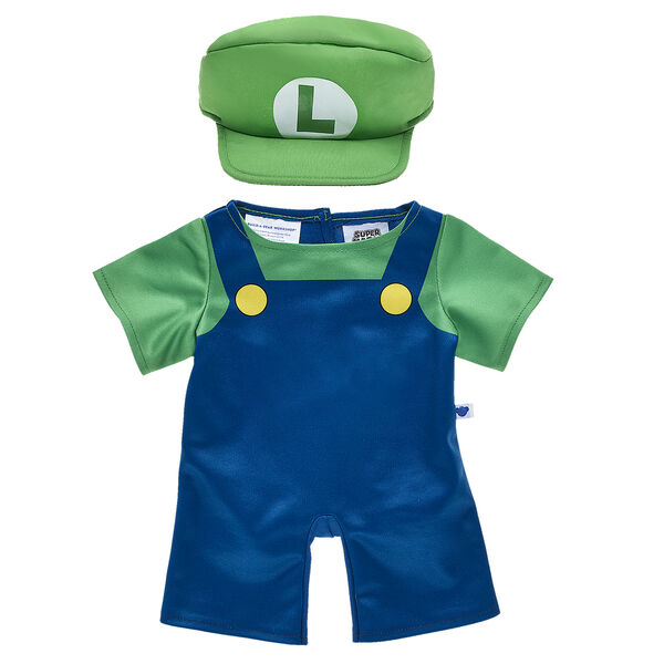 Okie dokie! With his signature green hat and shirt and navy blue overalls included, this official Luigi costume is the perfect way to make your furry friend look just like Mario's younger brother!  ™ & © 2017 Nintendo.