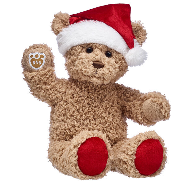 Ho ho ho! This cuddly teddy bear gift set is an adorable way to give someone special big bear hugs this Christmas. Timeless Teddy is a fuzzy brown bear with festive red paw pads and a cute bear-sized Santa hat included. This stuffed animal gift set makes a timeless Christmas gift for anyone on your list!