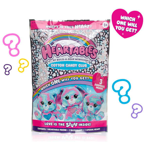 In Store Only - Heartables Mystery Furry Friends - Cotton Candy Club Series - Build-A-Bear Workshop®