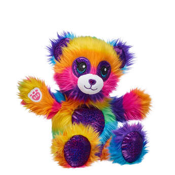 22cm Fuzzy Rainbow Panda - Build-A-Bear Workshop®