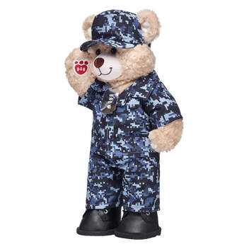 teddy bear in digital camo stuffed animal clothes gift set