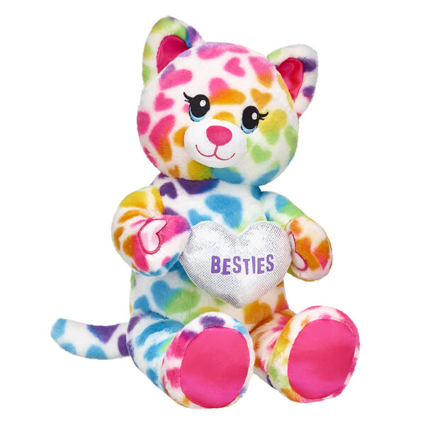 Who's your bestie? You can let them know with this adorable Rainbow Friends Cat stuffed animal gift set! This stuffed kitty brings the colourful cuteness by holding a plush heart in its paws. The PURRfect gift for your BFF! <p>Price includes:</p>  <ul>    <li>Rainbow Friends Cat</li>    <li>Besties Heart Wristie  </li> </ul>