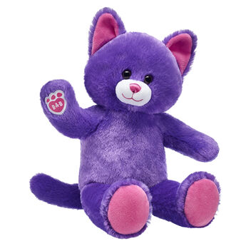 Lil' Plum Kitty is ready for playtime! This classic stuffed kitty features plum-coloured fur, soft brown eyes, pink ears and paw pads and the B-A-B pawprint on its right paw. An adorable playtime companion, this online-exclusive stuffed kitty can be outfitted with clothing, sounds and accessories to make it a one-of-a-kind furry friend!