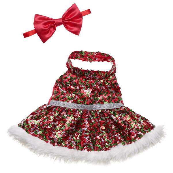 Red Christmas Dress - Build-A-Bear Workshop®