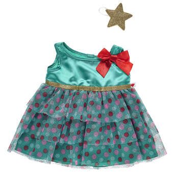 O Christmas tree, O Christmas tree! How lovely will your furry friend look in this Christmas tree dress?! This multi-tiered green dress has a bright red bow and comes with a gold star headband for the perfect finishing touch.