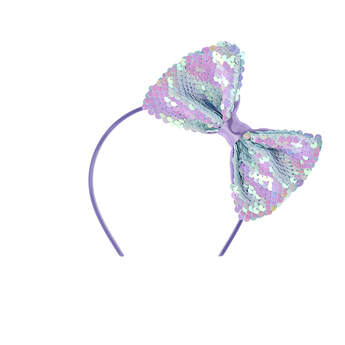 Flip Sequin Pastel Bow Headband - Build-A-Bear Workshop®
