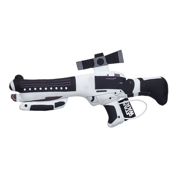 Complete your Stormtrooper™ Bear's look with a Stormtrooper Blaster™. This plush accessory is the weapon of choice for Stormtroopers in the Star Wars saga and it even makes a sound. © &™ Lucasfilm Ltd.