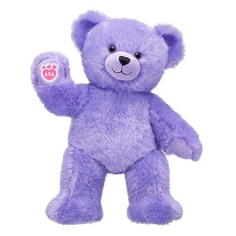Online Exclusive Fluffy Purple Bear - Build-A-Bear Workshop®