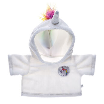 Now any furry friend can be as one-of-a-kind as a magical unicorn! This awesome white hoodie has a rainbow mane and shiny unicorn horn on the hood. Personlize a furry friend to make the perfect gift. Shop online or visit a store near you!