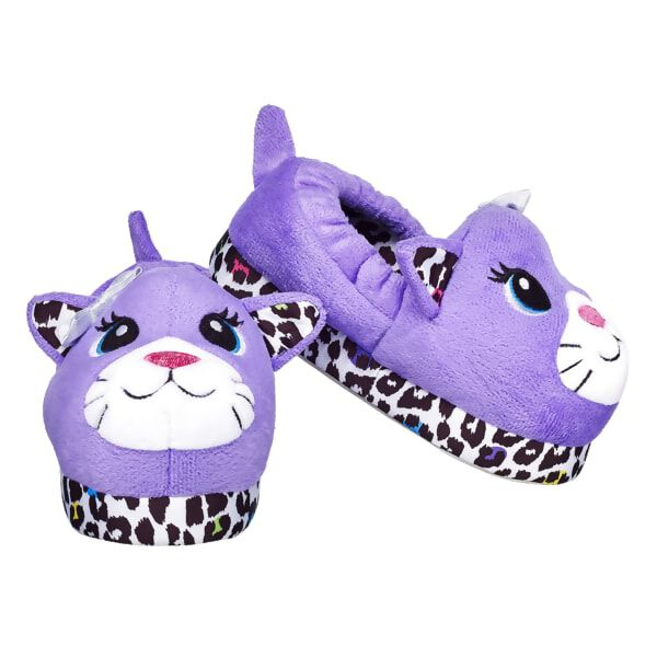 Kids Purple Leopard Slippers Size 13/1, , hi-res