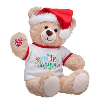 Happy Hugs Teddy My First Christmas Gift Set, , hi-res