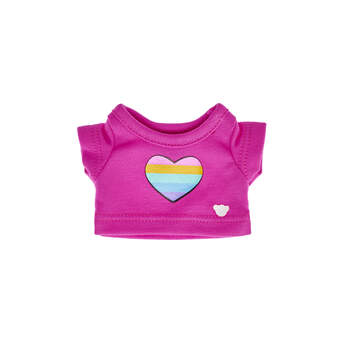 Build-A-Bear Buddies™ Rainbow Heart T-Shirt - Build-A-Bear Workshop®