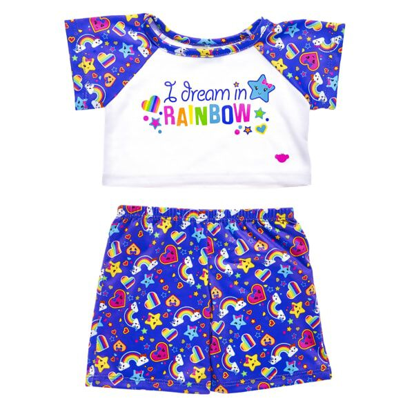 """I Dream In Rainbow"" Pyjamas 2 pc., , hi-res"