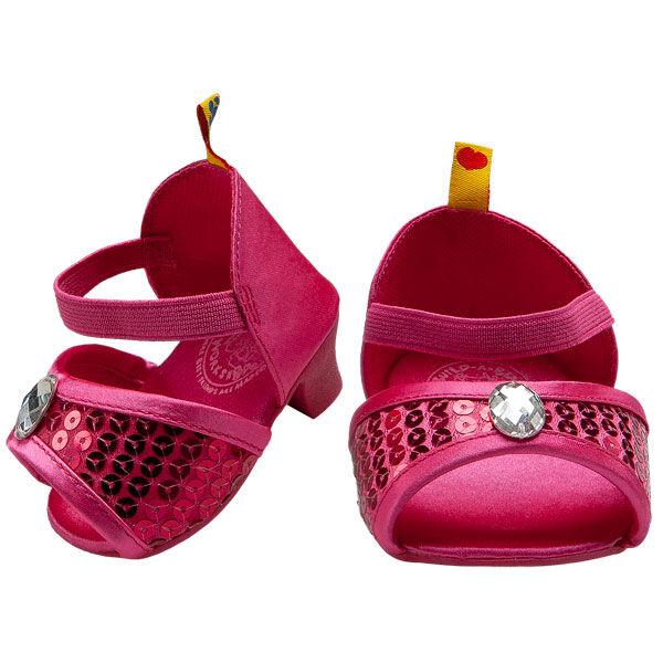 Fuchsia Sequin Heels, , hi-res