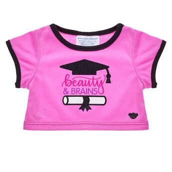 Online Exclusive Beauty & Brains Graduation T-Shirt - Build-A-Bear Workshop®