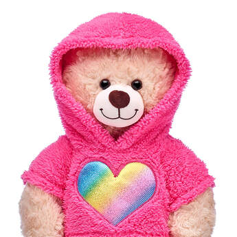 Pink Rainbow Heart Hoodie - Build-A-Bear Workshop®