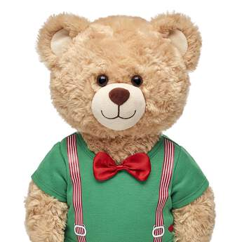 Red & Green Suspender Tee - Build-A-Bear Workshop®