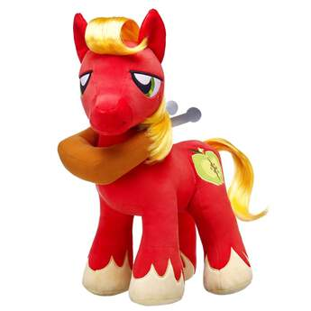 Pony Pride! A pony of few words, BIG MCINTOSH is a calm and easygoing furry friend. This online exclusive pony wears a work collar and has a golden mane with bright red fur featuring his signature apple cutie mark. Add BIG MCINTOSH to your MY LITTLE PONY collection and personalise him with your favourite MY LITTLE PONY outfits and accessories!  2017 Hasbro. All Rights Reserved.