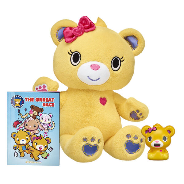 "Whether Bearnice is in furry friend form or adorable squishy form, this little golden bear makes a PAWsitively awesome companion for Kabu fans of all ages! This Kabu stuffed animal gift set also includes a copy of the all-new Kabu graphic novel """"The Grreat Race""""! <p>Price includes:</p>  <ul>    <li>Kabu™ Bearnice</li>     <li>Kabu™ Bearnice Squishy  </li>    <li>Kabu™ """"The Grreat Race"""" Graphic Novel</li> </ul>"