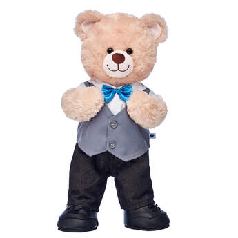 Happy Hugs Teddy Vest & Bow Tie Gift Set, , hi-res