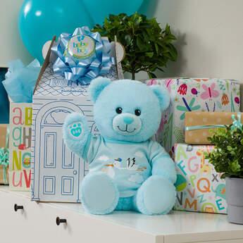 Online Exclusive Blue Baby Bear Stork Gift Set, , hi-res