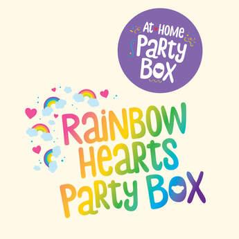 Rainbow Hearts Party Box – 4 People, , hi-res