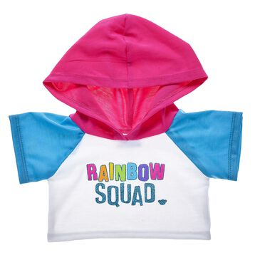 Now your whole squad of furry friends can rock the rainbow! This fun bear-sized hoodie is a cool way to color your world with rainbow fun. Personlize a furry friend to make the perfect gift. Shop online or visit a store near you!