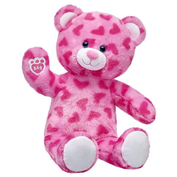 Pink Hearts Bear is the definition of pretty in pink! Find stuffed animals, clothing & accessories for any occasion at Build-A-Bear.