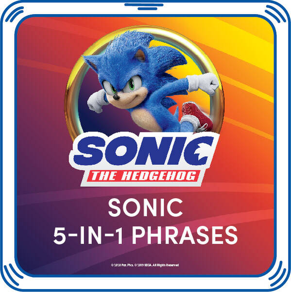 Online Exclusive Sonic Movie Phrases - Build-A-Bear Workshop®