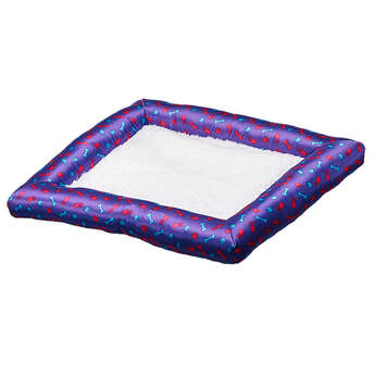 Let your Promise Pet take a rest with this comfy, plush dog bed that fits inside the special carrier that comes with every pet. The Purple Bed has a purple border with a stylish paw, bone and mouse design. This toy Purple Dog Bed is perfect for taking a cat nap or catching some puppy Zzz's.