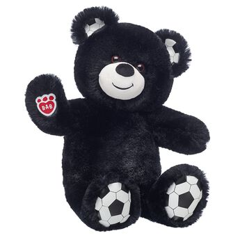 Goal! Football Bear shoots and scores with soft black fur and football ears and paw pads. You can even add a plush football, your favourite club's kit and a pair of football boots so your furry friend is ready to hit the field!