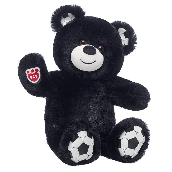 978eba25 Football Bear shoots and scores with soft black fur and football ears and  paw