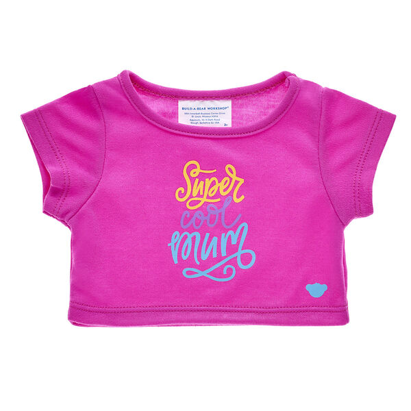 """Teddy bear t-shirt with the words """"Super Cool Mum"""""""