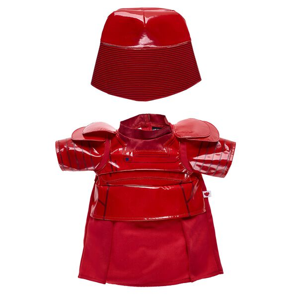 Give your furry friend the coolest look in the galaxy with this Praetorian Guard costume from Star Wars™! This red two-piece costume is perfect for any epic journey and makes a great gift for movie fans. © & ™ Lucasfilm Ltd.
