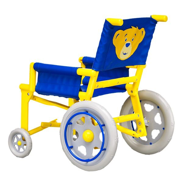 teddy bear wheelchair accessory back view