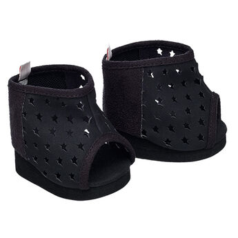 Your Honey Girl will look cool from head to paw! Add a pair of Black Star Boots to complete her look. These black booties features star cuts outs and a peep toe design.