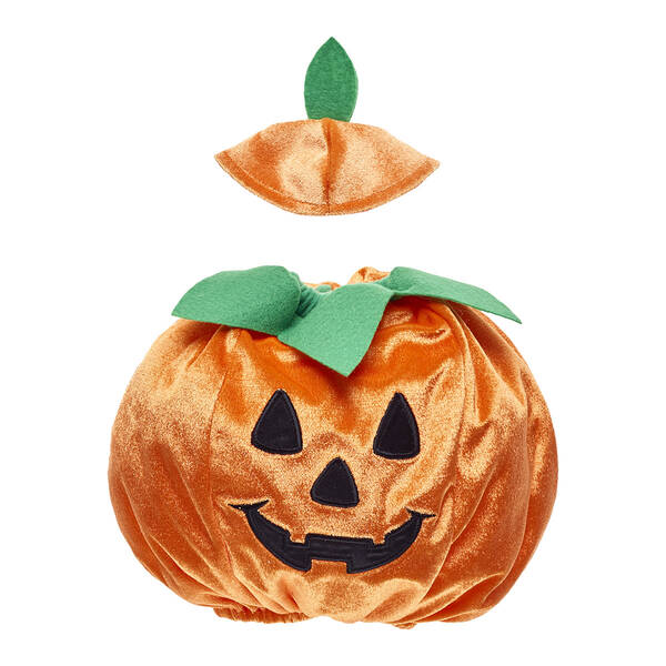 With openings for your furry friend's arms, this orange and green jack-o'-lantern outfit for stuffed animals is way too cute to be spooky. Shop online.
