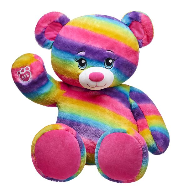 Good friends color your world with fun and our Jumbo Rainbow Friends bear knows a thing or two about color! This giant teddy bear is a 3 foot tall bear.